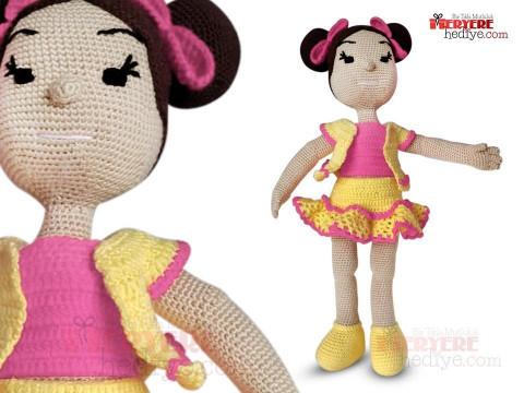 Tığ işi bebek Amigurumi köpek çıngıraklı oyuncak bebek hediye ...   360x480